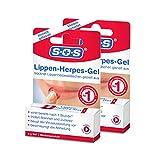 SOS Lippen-Herpes-Gel, 2 x 5g Tube, Linderung von Schmerzen und...
