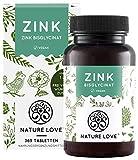 NATURE LOVE® Zink - 25mg - 365 Tabletten (1 Jahr) - Hochdosiertes...