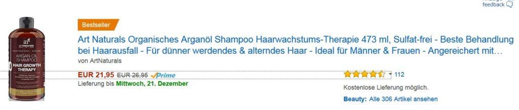 Shampoo für schnelleres Haarwachstum