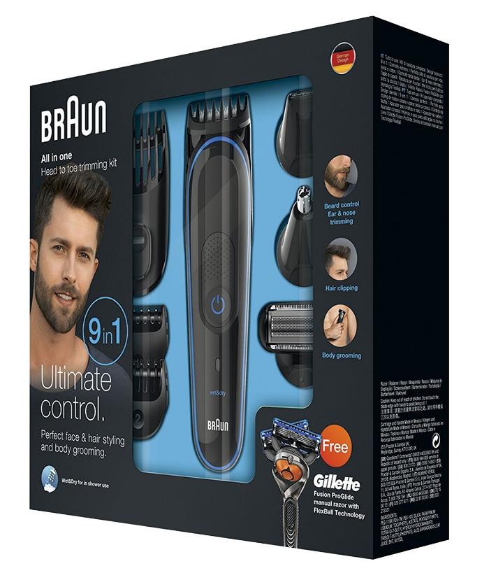 Multiset-Bartpflege-Braun-Grooming Brusthaare trimmen