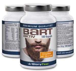 Bartwuchs Nährstoffe Kapseln