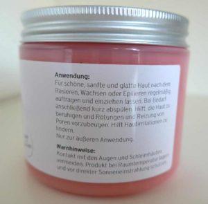 Anwendung Anti-Pickel-Creme nach Rasur
