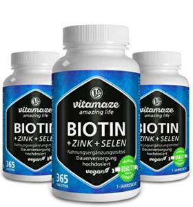 Biotin Zink Selen Tabletten gegen strohige Haare