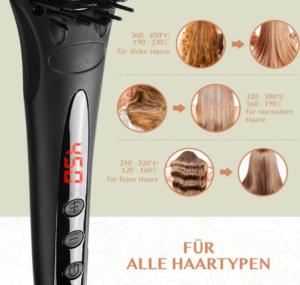 Glättbürste für alle Haartypen