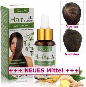 Extra Tipp neues Haar-Serum schneller dichtes Haarwachstum gegen Haarausfall für Männer und Frauen mit Haarproblemen